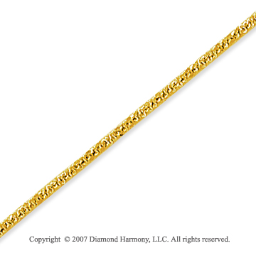 14k Yellow Goldold Fashionable Very Thin 1.00mm Fancy Chain