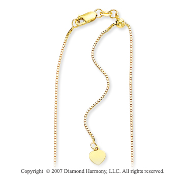 14k Yellow Goldold Fashionable 1.00mm Adjustable Heart Chain