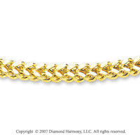 14k Yellow Goldold Sleek Stylish Regular 6.00mm Men's Chain