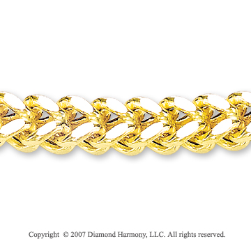 14k Yellow Goldold Sleek Stylish Regular 7.00mm Men's Chain