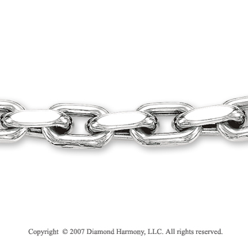 14k White Gold Classic Style Regular 8.00mm Men's Chain