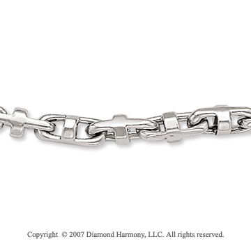 14k White Gold Standard Regular 5.00mm Men's Chain