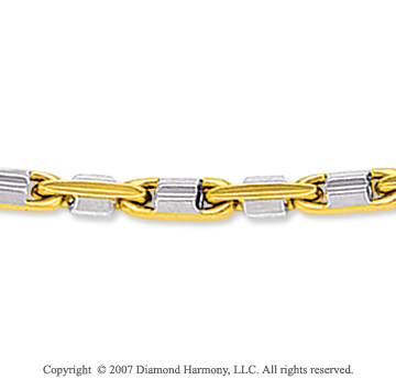 14k Two Tone  Gold Standard Thin 3.00mm Men's Stylish Chain