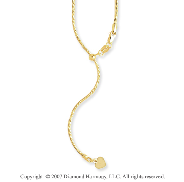 14k Yellow Goldold 22 Inch Adjustable Spiral Snake Chain Pendant