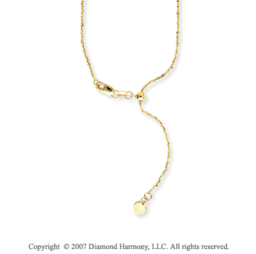 14k Yellow Gold Adjustable Twisted Anchor Chain Pendant