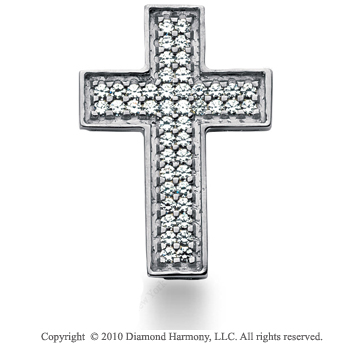 2 1/2 Carat 14k White Gold Diamond Cross Pendant