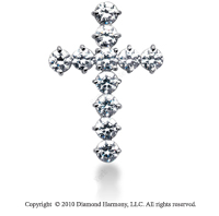 5 1/2 Carat 14k White Gold Diamond Cross Pendant
