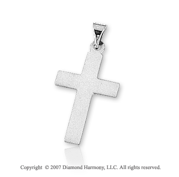 14k White Gold Classic Traditional Small Cross Pendant