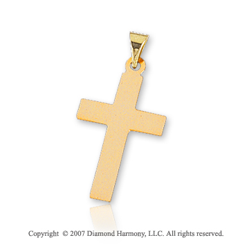 14k Yellow Gold Classic Traditional Small Cross Pendant