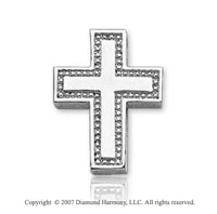 14k White Gold Devotional Classic Small Cross Pendant