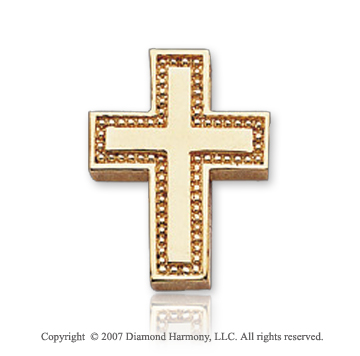 14k Yellow Gold Devotional Classic Small Cross Pendant