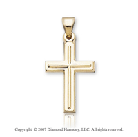 14k Yellow Goldold Classic Elegance Children's Cross Pendant
