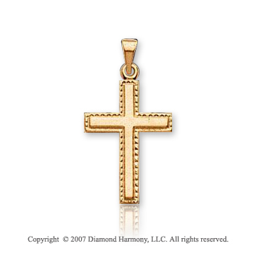 14k Yellow Gold Glorious Classic Small Cross Pendant