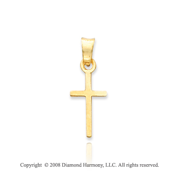 14k Yellow Gold Small Cross Pendant