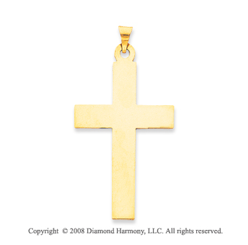 14k Yellow Gold Fashion Cross Pendant