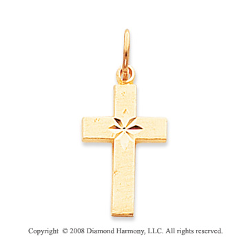 14k Yellow Gold Simple & Elegant Cross Pendant