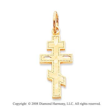 14k Yellow Gold Exquisite Crafted Orthodox Cross