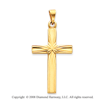 14k Yellow Gold Devotional Medium Fashion Cross Pendant