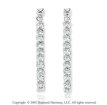 0.45  Carat 14k Diamond Stiletto Dangle Drop Earrings