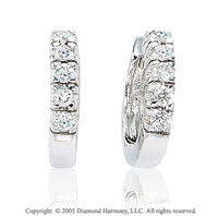 0.35  Carat Diamond 14k 5 Stone Huggie Earrings