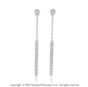Carat Diamond 14k Stiletto Drop Dangle Earrings