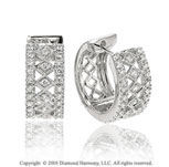 .35  Carat 14k Diamond Milgrain Filigree Earrings