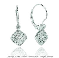Carat Pave Diamond Classic Dangling Earrings