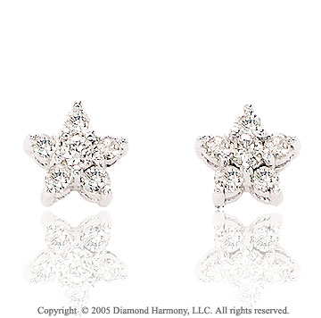 0.30  Carat Diamond Star Stud Earrings