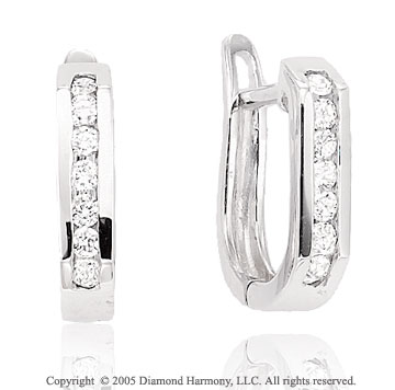 1/4  Carat Diamond Channel Huggie Earrings