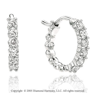 0.65  Carat Diamond Huggie Earrings