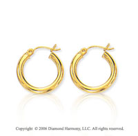 14k Yellow Gold � inch, 3mm Extra Small Hoop Earrings