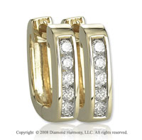 14k Yellow Gold 1/3 Carat Attractive Diamond Huggies  Earrings