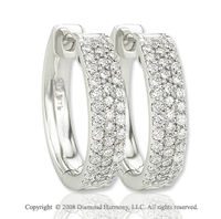 14k White Gold 1/2 Carat Diamond Earrings