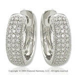 14k White Gold 1/4 Carat Elegant Diamond Huggie Earrings