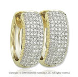 14k Yellow Gold 1/2 Carat Elegant Diamond Huggie Earrings