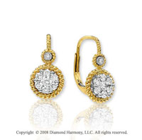 14k Yellow Gold Multiple Diamond Drop Earrings