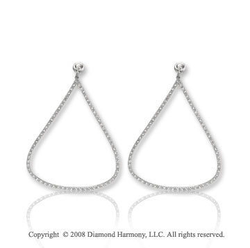 14k White Gold .55 cwt Diamond Drop Earrings