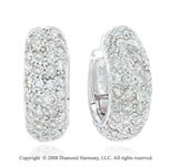 2 Carat 14k White Gold Diamond Huggie Earrings