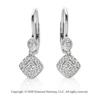 14k White Gold 1/5 Carat Diamond Drop Earrings
