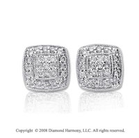 14k White Gold 1/4 Carat Diamond Earrings