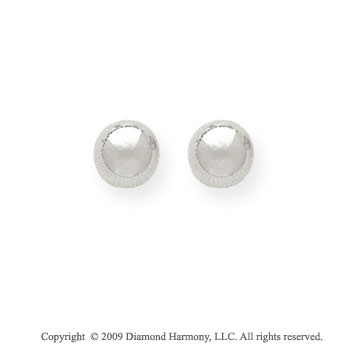 14k White Gold 6mm Ball Stud Earrings