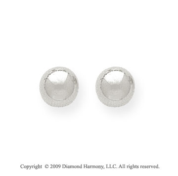 14k White Gold 7mm Ball Stud Earrings