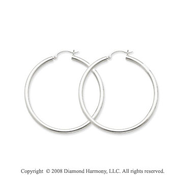 Sterling Silver 1 3/4 Inch Hoop Earrings