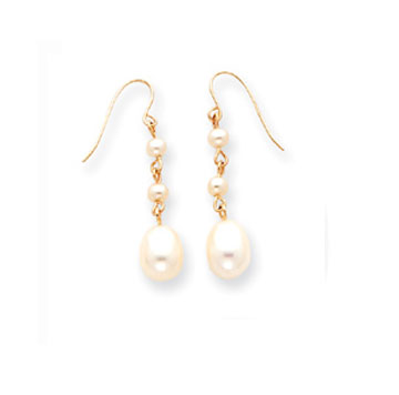 14k Freshwater Pearl Drop Earrings