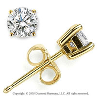 14k Yellow Goldold Prong Round .10 Carat Diamond Stud Earrings
