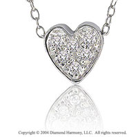 14k Diamond Pave Cluster Heart Pendant Necklace