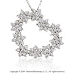 Diamond Fireburst 14k Heart Pendant Necklace