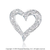Diamond 14k White Gold Heart