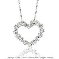 1/3 Carat Diamond 14k White Gold Heart
