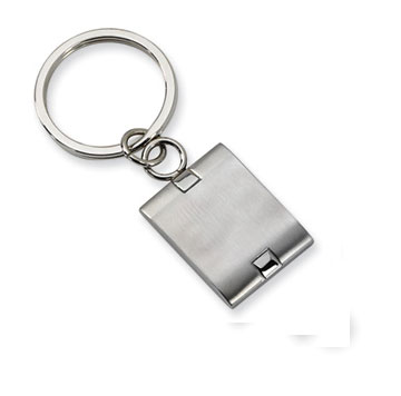 Brushed Stainless Steel Key Ring